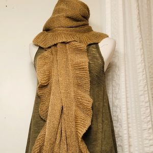 Accessories - Knit Ruffle Wrap/Scarf